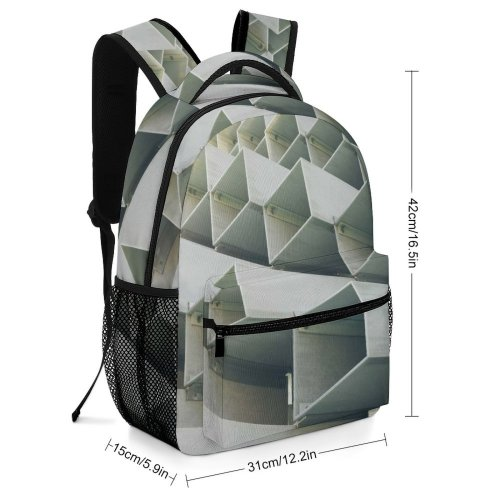 yanfind Children's Backpack Detail Facebook City Metal Design Serpentine Building Urban Outdoors Abstract Shapes Preschool Nursery Travel Bag
