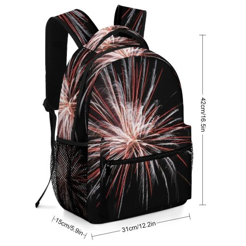 yanfind Children's Backpack Detail Festival Dark Lights Fireworks Explosion Multicolor Bang Blast Eve Year Preschool Nursery Travel Bag