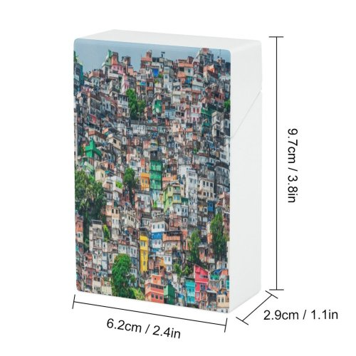 yanfind Cigarette Case Working Janeiro Slum Temporary Anxiety Social Rio Issues America Poverty Unemployment Favela Hard Plastic Crushproof Cigarette Case