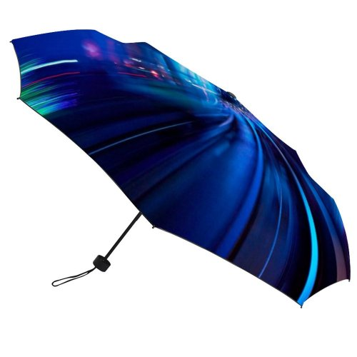 yanfind Umbrella Manual Natural Built Famous Perspective Illuminated Illusion Mystery Lujiazui Blurred Bund Infinity Windproof waterproof anti-ultraviolet protection golf umbrella