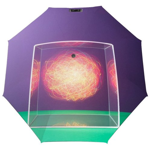 yanfind Umbrella Manual Natural Data Illuminated Mystery Reflection Science Blurred Jersey Innovation Abstract Vitality Windproof waterproof anti-ultraviolet protection golf umbrella
