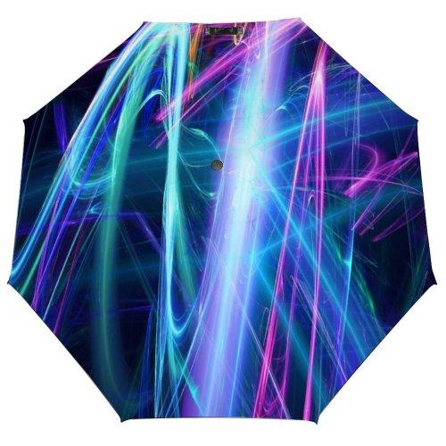yanfind Umbrella Manual Natural Gravity Reflection Liquid Dimensional Ultraviolet Digitally Futuristic Transparent Art Layered Windproof waterproof anti-ultraviolet protection golf umbrella