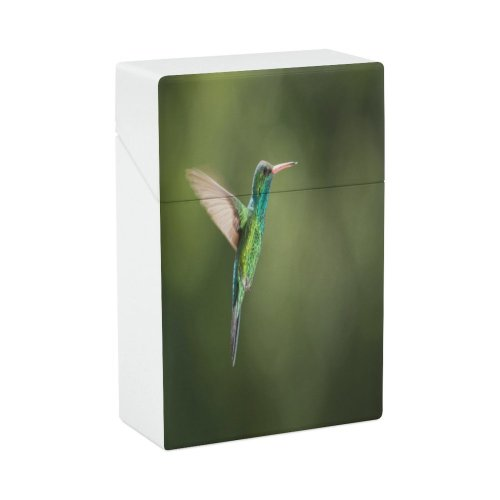 yanfind Cigarette Case Argentina Wing Flapping Bird Rainforest Wild Hovering Hummingbird Wildlife Outdoors Flying Hard Plastic Crushproof Cigarette Case