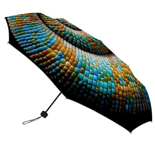 yanfind Umbrella Manual Natural England Curled UK London Outdoors Wildlife Chameleon Tail Windproof waterproof anti-ultraviolet protection golf umbrella