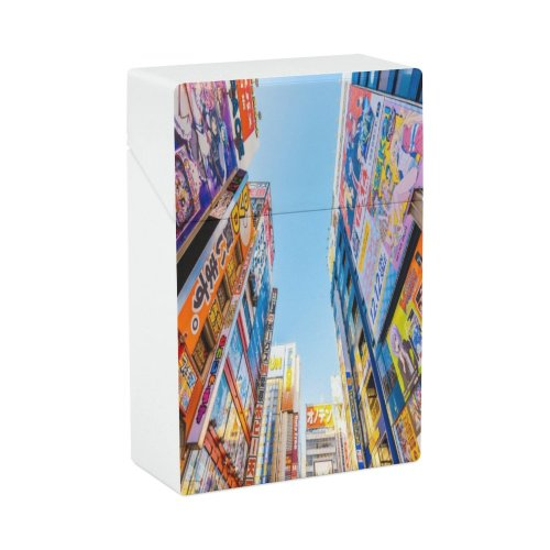 yanfind Cigarette Case Advertisement Shopping Japanese Game Place Futuristic Mall Nerd Electronics Directly High Hard Plastic Crushproof Cigarette Case