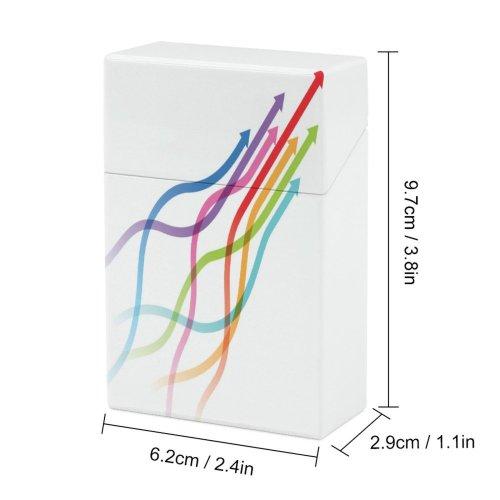 yanfind Cigarette Case Almanac Explosion Growth Way Direction Data Rainbow Unity Athlete Merging Arrowhead Population Hard Plastic Crushproof Cigarette Case
