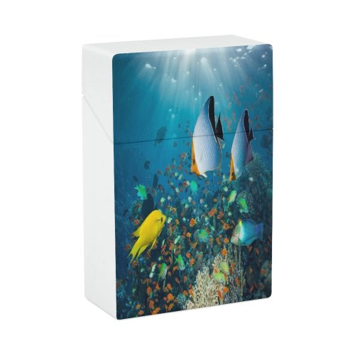 yanfind Cigarette Case Wrasse Klunzinger's Lyre Chromis Anthias Awe Scenics Outdoors Relaxation Abundance Tail Coral Hard Plastic Crushproof Cigarette Case