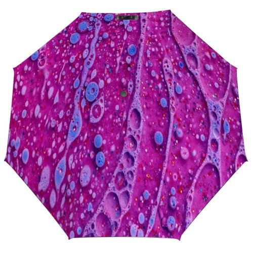 yanfind Umbrella Manual Natural Dye Liquid Splattered Bubble Magnification Chemistry Oil Art Abstract Morphing 001 Windproof waterproof anti-ultraviolet protection golf umbrella