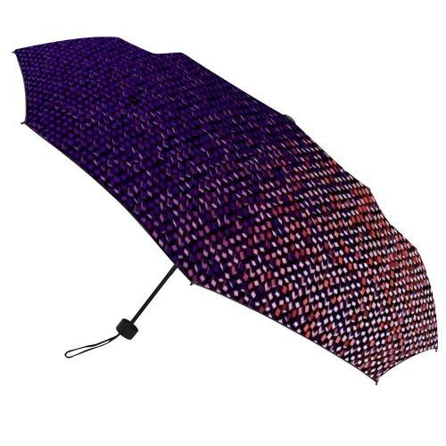 yanfind Umbrella Manual Natural Data Digital Block Splattered Dimensional Reality Digitally Futuristic Wireless Art Windproof waterproof anti-ultraviolet protection golf umbrella