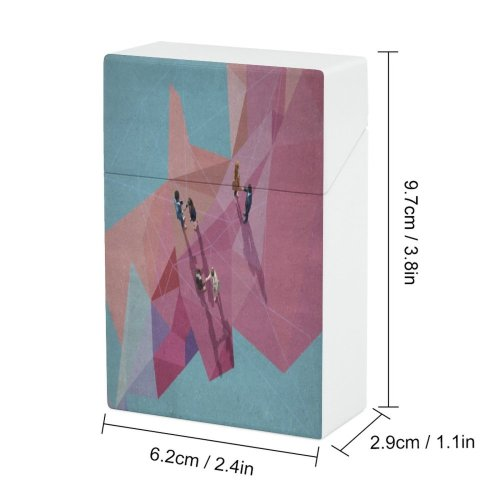 yanfind Cigarette Case Acquisitions Businesswoman Partnership Togetherness Sunrise Connection Outdoors Occupation Town Province Africa Mural Hard Plastic Crushproof Cigarette Case