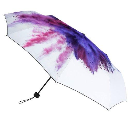 yanfind Umbrella Manual Natural Powder Social Splattered Togetherness England UK Issues London Art Abstract 001 Windproof waterproof anti-ultraviolet protection golf umbrella