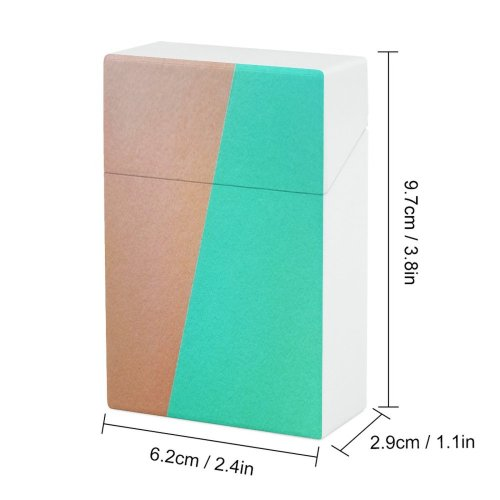 yanfind Cigarette Case Agriculture Blank Racket Turquoise High Italy Sport Wall Physical Building Abstract Bark Hard Plastic Crushproof Cigarette Case