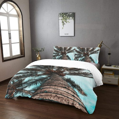 yanfind Bedding Set of 3 (1 Cover, 2 Bed Pillowcase Without Sheet)Bokeh Images Ocean Christmas HQ Wallpapers Plant Tree Free Palm Trip Duvet Cover personalization