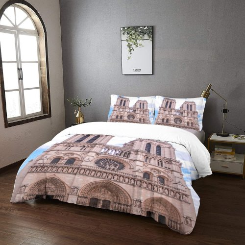 yanfind Bedding Set of 3 (1 Cover, 2 Bed Pillowcase Without Sheet)City Images Building Wallpapers Architecture Urban Stock Free Church Spire Cathedral Duvet Cover personalization