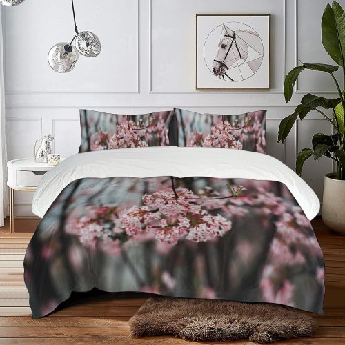 yanfind Bedding Set of 3 (1 Cover, 2 Bed Pillowcase Without Sheet)Bokeh Images Flush Colorful Flora Grass Wallpapers Plant Garden Free Forest Duvet Cover personalization
