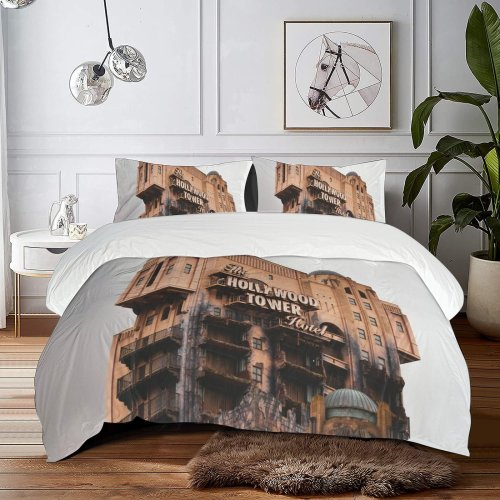 yanfind Bedding Set of 3 (1 Cover, 2 Bed Pillowcase Without Sheet)City High Anaheim Images Rise Building Demolition Metropolis Wallpapers Studios Urban Duvet Cover personalization