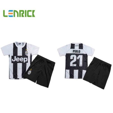 Lenrick  Kids Soccer Jerseys Italia Series A  Juventus Home  Uniform Kits Football Tracksuit