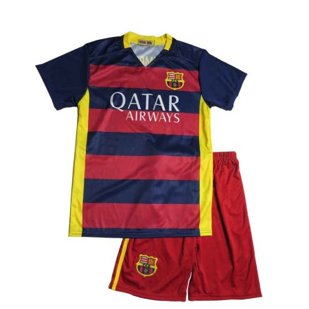 Lenrick Cheap Kids Barcelona Home Soccer Jersey Uniform Neymar JR 11 Kits Football Tracksuit