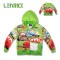 Lenrick Spring  Cartoon Cars Hoodies Green  Wholesale