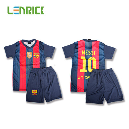 Lenrick  2016-17 Barcelona Home Boys Kit Shirt