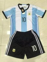 Lenrick  2016-17 New Argentina Home Kit (Messi 10) - Kids