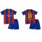 Lenrick  2015-2016 Barcelona Home Lenrick Boy Kit Children Soccer Jersey