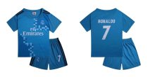 KId REAL MADRID THIRD JERSEY Uniform 17/18 Children Soccer Jersey Kits