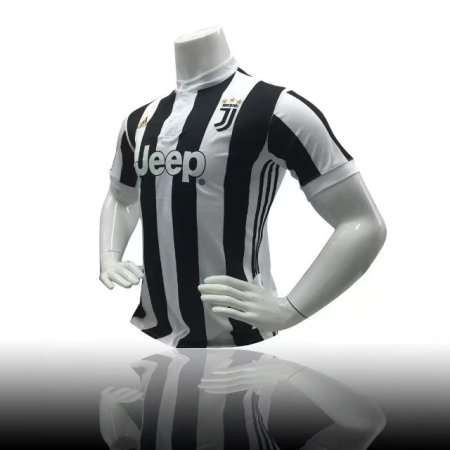 17/18  Adult Juventus Home Soccer Jersey Uniform Black  Men Football Replica Jersey Top  Shirt