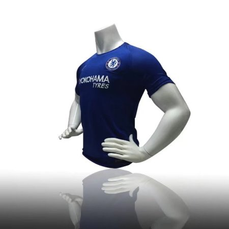 REPLICA CHELSEA HOME VAPOR MATCH JERSEY 17/18 - RUSH BLUE/WHITE ADULT SOCCER JERSEY MEN FOOTBALL TOP SHIRT