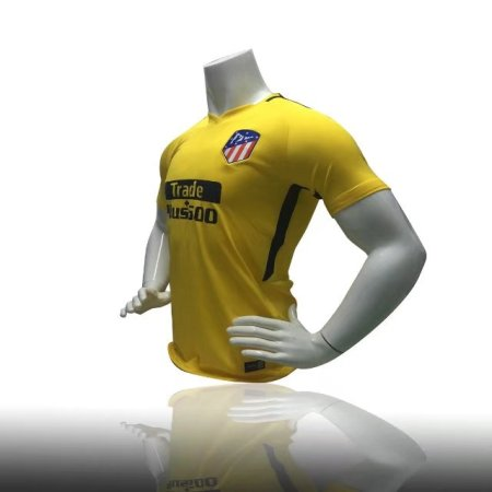 17-18 Atletico Madrid Yellow Away Training Jersey Shirt THAILAND QUALITY ADULT SOCCER TOP SHIRT