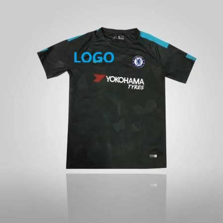 REPLICA Adult CHELSEA THIRD JERSEY 17/18 - ANTHRACITE/OMEGA BLUE Adult Soccer Jersey Men Football Shirt Top