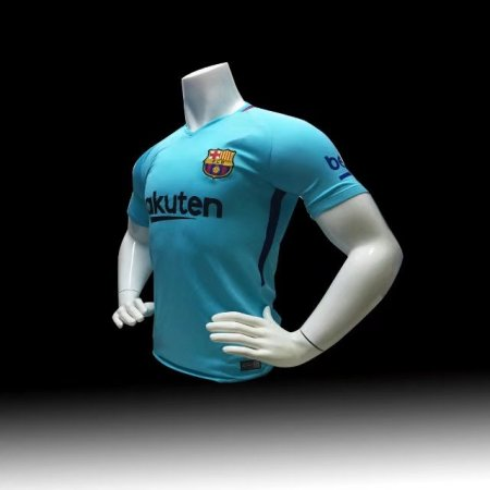 Men Bacelona Away Blue Jersey  Messi 10 Football Kits Adult Soccer Shirt Replica Quality
