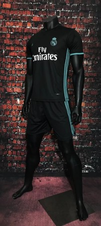 2017/2018 Adult Real Madrid Away Soccer Jersey Uniforms White Man Football Kits Tracksuit Shirt+Short Home Away