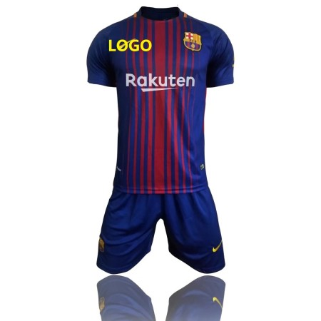 17/18 Children Bacelona Home Red/Blue Soccer Jersey Uniform Youth Football Kits Custom Name And Number