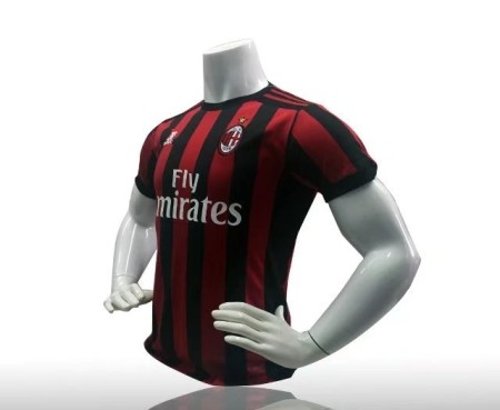 2017/18 Adult AC Milan Home Top Shirt Red/Black Men Football Jersey