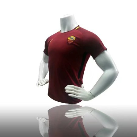 2017/18 Adult Roma Home Red Soccer Jersey Men Futbol Shirt