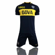 17/18 Adult Club Atlético Boca Juniors Soccer Jersey Uniforms Men Cheap Football Kits Wholesale