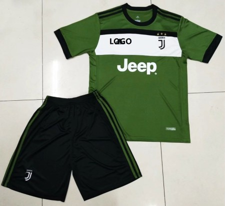 2017/18 Adult Juventus Third Away Soccer Jersey Uniform Green/Black