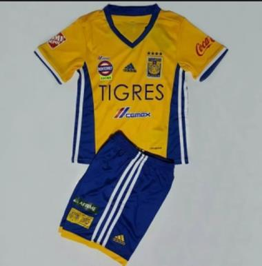 16/17 Adult Tigres Home Yellow Soccer Jersey Uniform Football Kits Wholesale online