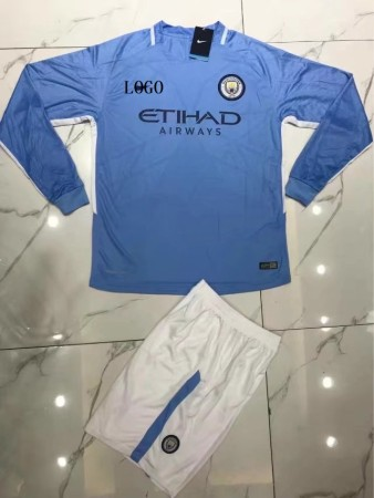 Adult Manchester Home Long Sleeve Jersey Uniforms