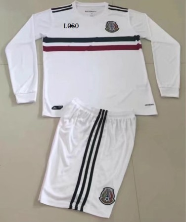 17/18 Mexico Away White Adult Soccer Jersey Kits Men Football Uniforms Design Name Number