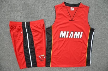 Adult  Miami Heat Hassan Whiteside Red Road Replica Adult Basketball Jersey Uniforms Men's Kits