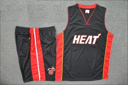 Men's Miami Heat Hassan Whiteside  Black Road Replica Jersey Uniforms Adult Basketball Kits