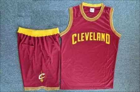 Men's Cleveland Cavaliers Kevin Red Love Jersey Uniforms Adult Basketball Kits Custom Name And Number