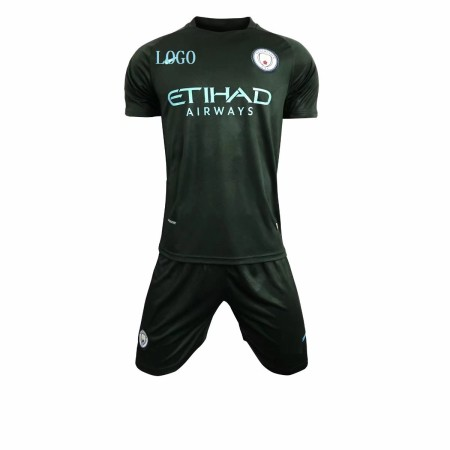 Adult Manchester City 2017-18 third Soccer Jersey Uniforms Men Complete Football Team Kits