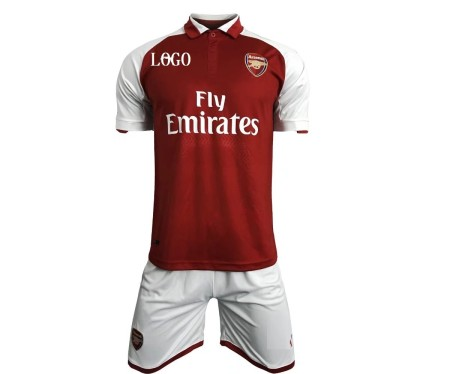 17/18 Arsenal Home Kits Red/white Adult Soccer Jersey Uniforms Men Team Football Complete Sets