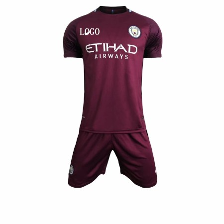 17/18 Adult Manchester City  Away Purple Soccer Jersey Uniforms Men uniformes de futbol soccer