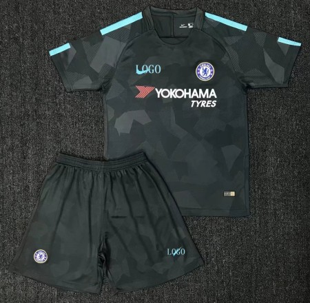 17/18 Chelsea Third Away Football Jersey Kits Men Soccer Jersey Uniforms Wholesale