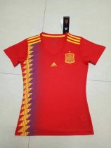 18 Russia World Cup Woman Spain Home Jersey Red Soccer Shirt Women Football Kits