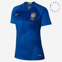 2018 Russia World Cup Woman Brazil Away Blue Soccer Jersey Women Football Kit Thailand Quality Custom Name Number